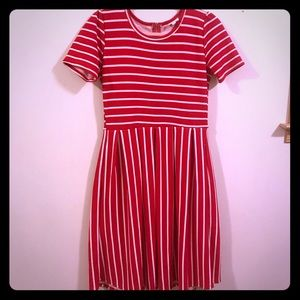 Lularoe red striped Amelia